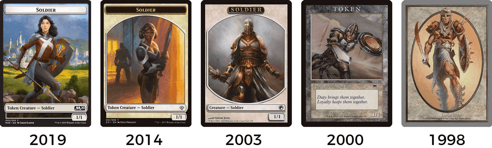 graphic regarding Printable Mtg Tokens known as How the style and design of MTG token card frames contain progressed MTG