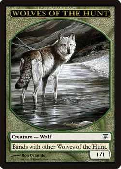 8 Wolf Token Shadowmoor